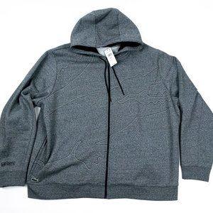 LACOSTE SPORT Men's 4XL Gray Zip Hoodie Jacket NEW